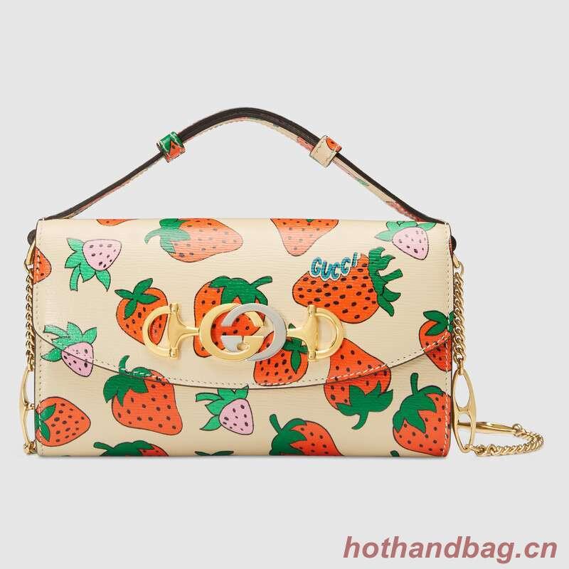 Gucci Zumi Strawberry print mini bag 564718