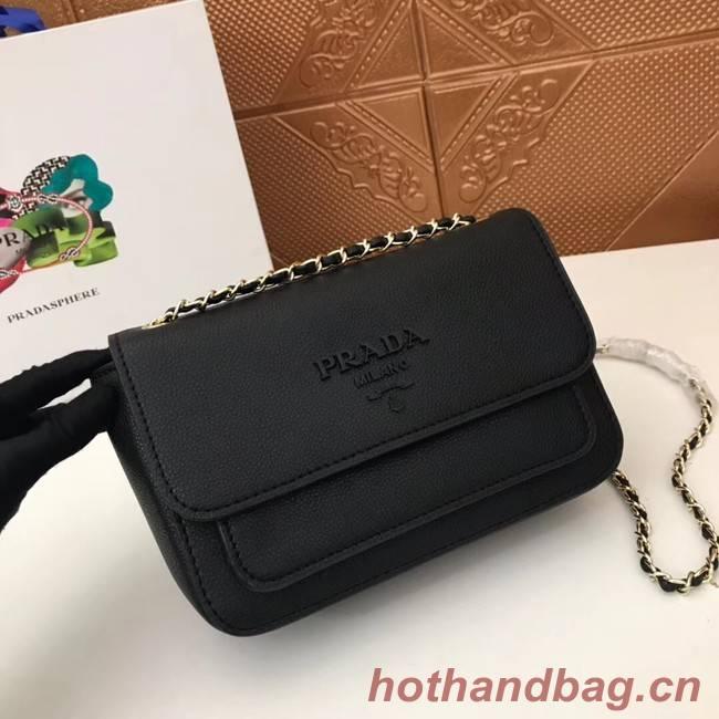Prada Calf leather shoulder bag 3011 black