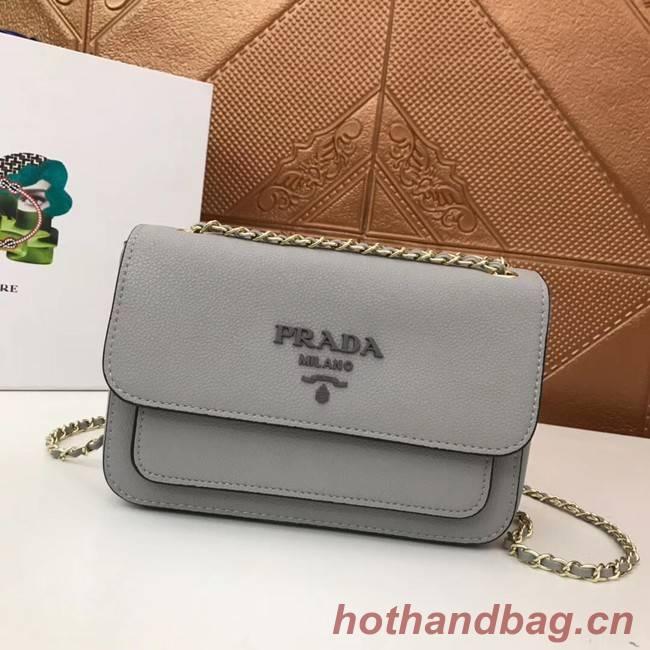 Prada Calf leather shoulder bag 3011 grey