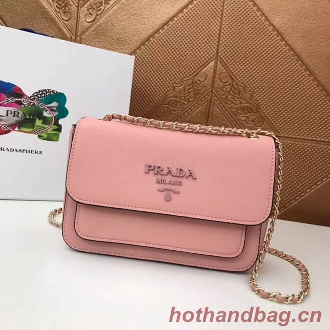 Prada Calf leather shoulder bag 3011 pink