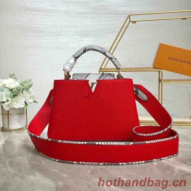 Louis vuitton original taurillon leather Capucines BB M48865 red