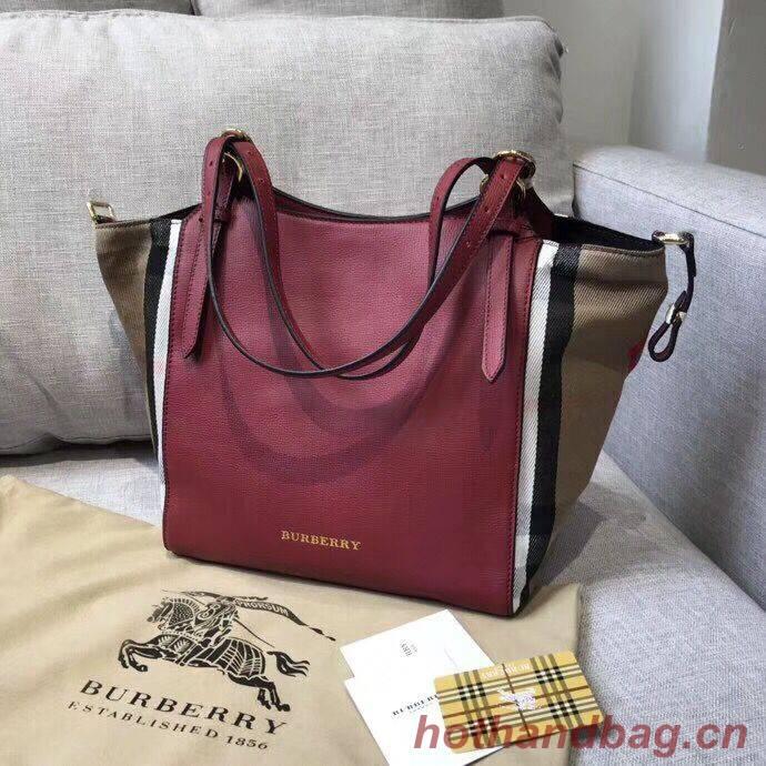 BURBERRY The Canter Original Leather Bag 30291 Burgendy
