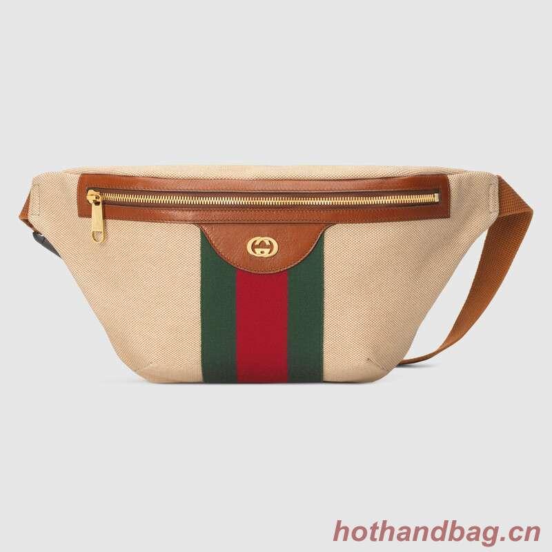 Gucci Vintage canvas belt bag 575082 Beige