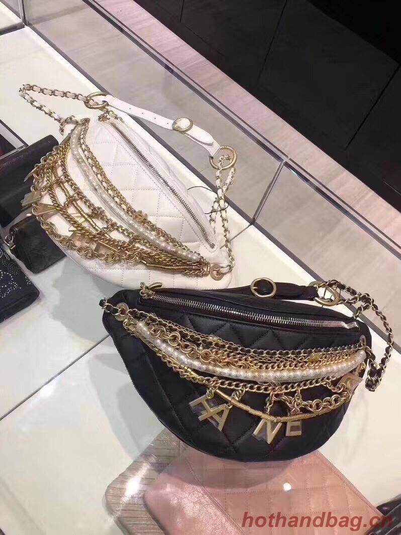 Chanel Original Leather Pearl Belt Bag C2039