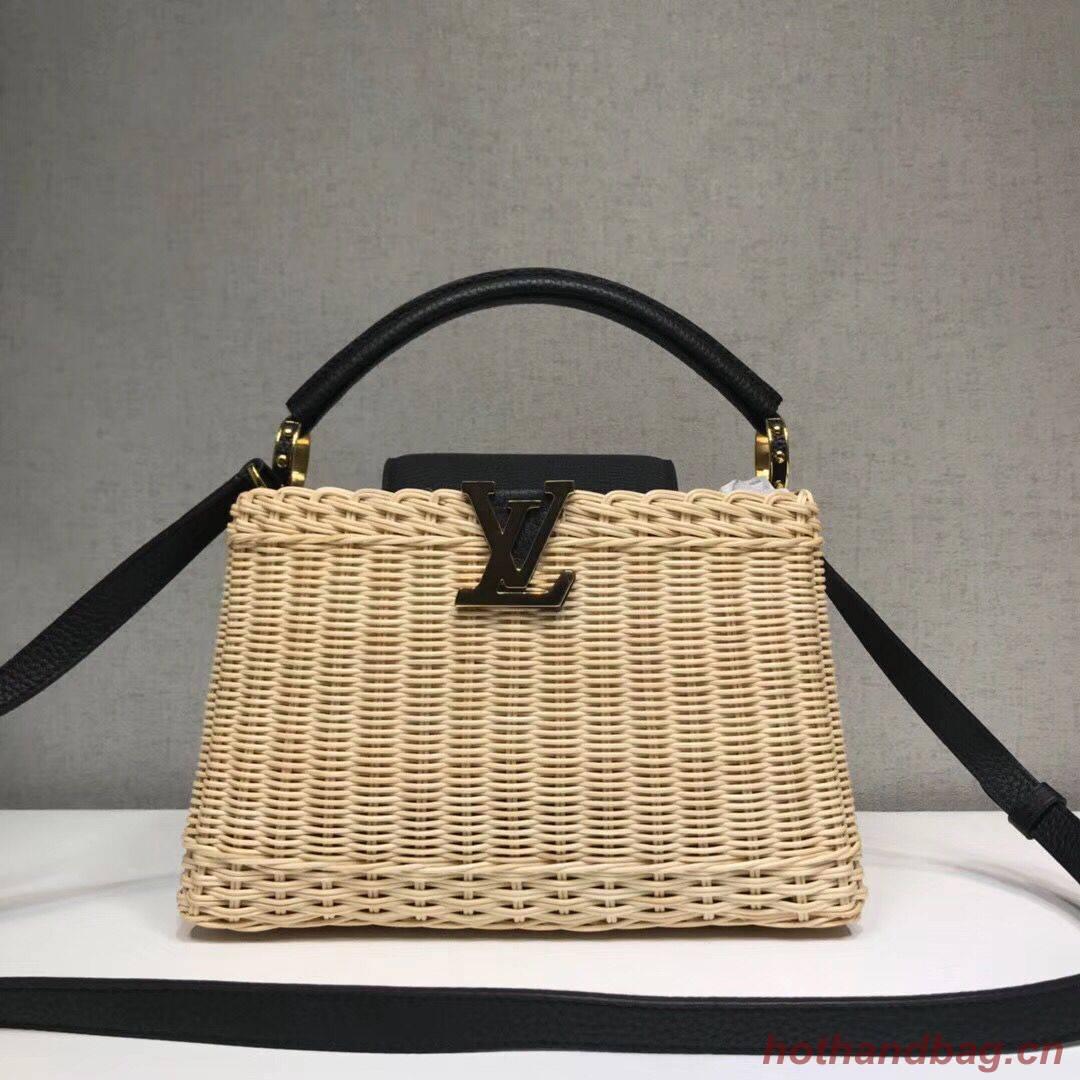 Louis Vuitton Original CAPUCINES PM M50011 Black