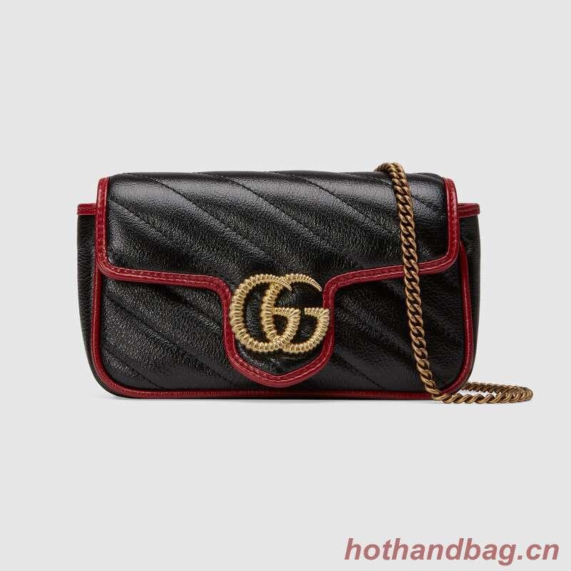 Gucci GG Marmont super mini bag 574969 Black