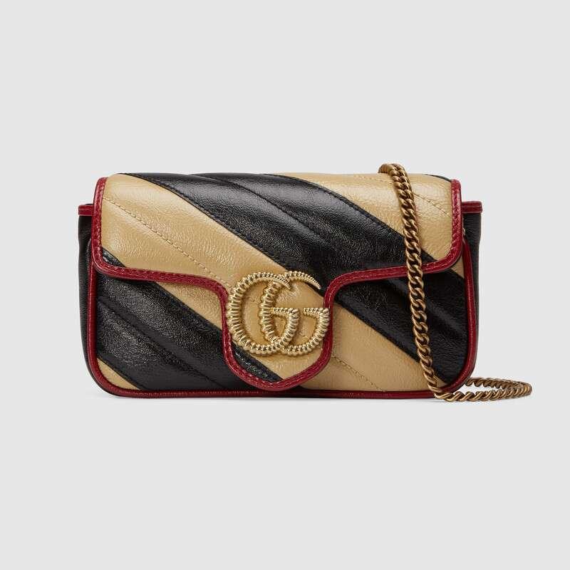 Gucci GG Marmont super mini bag 574969 Cognac