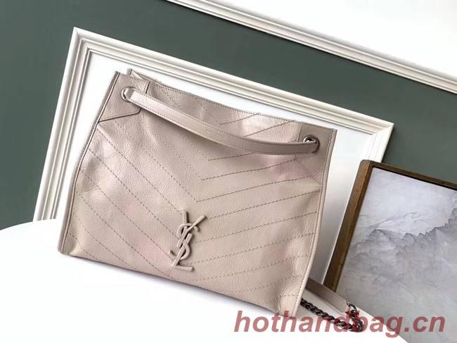 SAINT LAURENT NIKI MEDIUM SHOPPING BAG IN CRINKLED VINTAGE LEATHER 5814 beige