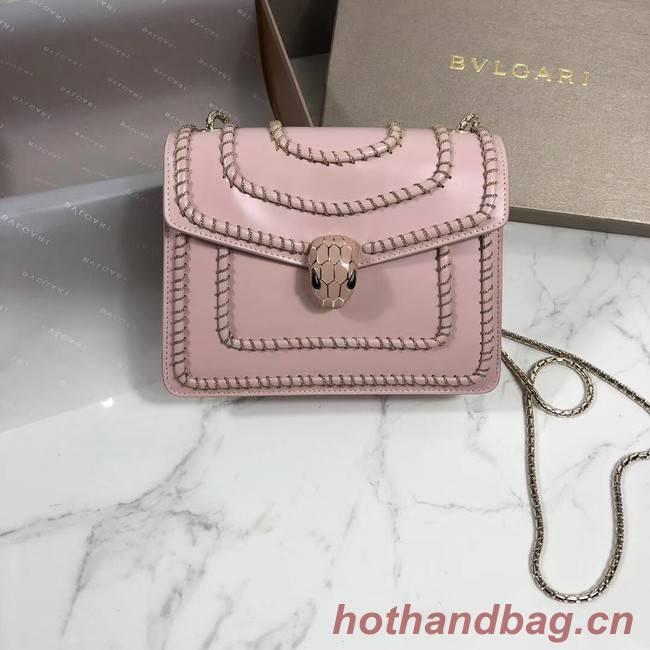 BVLGARI mini Shoulder Bag Calfskin Leather BG22889 pink