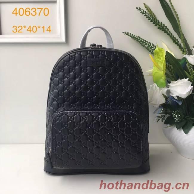 GUCCI GG Soho Leather backpack 406370 Black