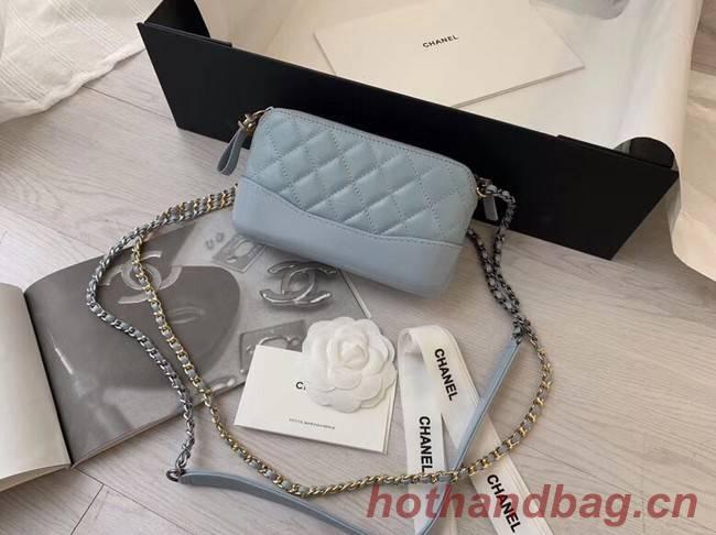Chanel mini Shoulder Bag Leather B93825 light blue