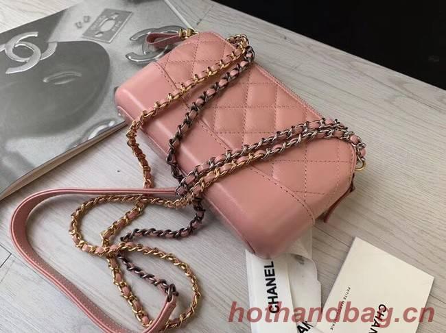 Chanel mini Shoulder Bag Leather B93825 pink