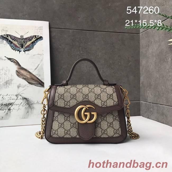 Gucci GG Marmont mini top handle bag 547260 brown