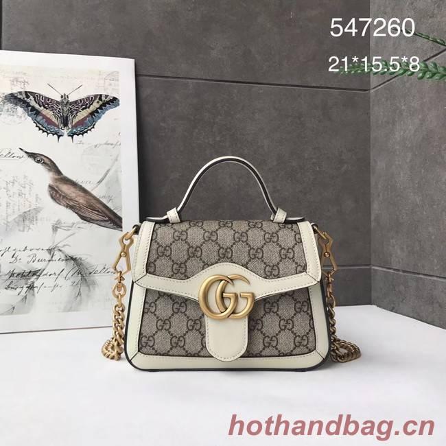 Gucci GG Marmont mini top handle bag 547260 white