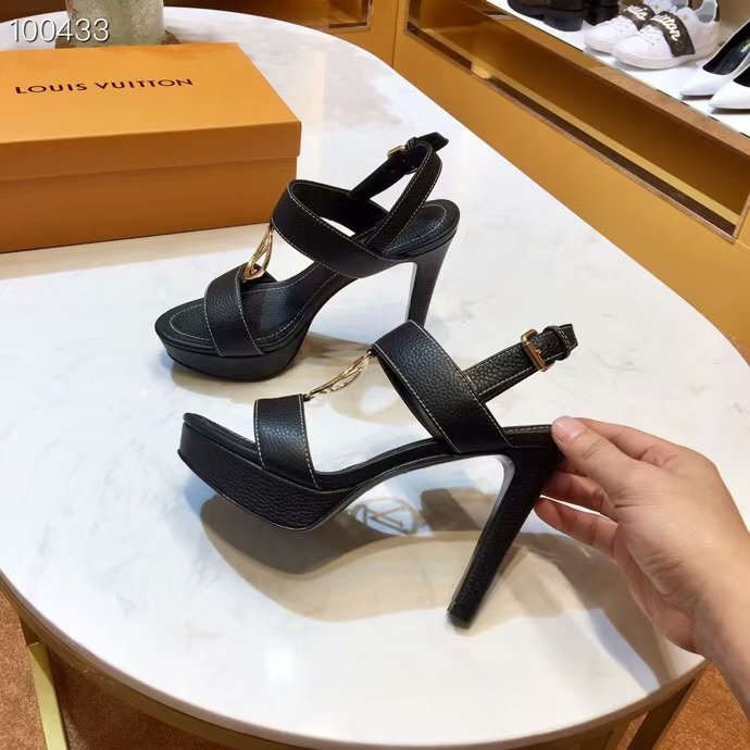 Louis Vuitton lady leather Sandals LV955SY-1 10CM height