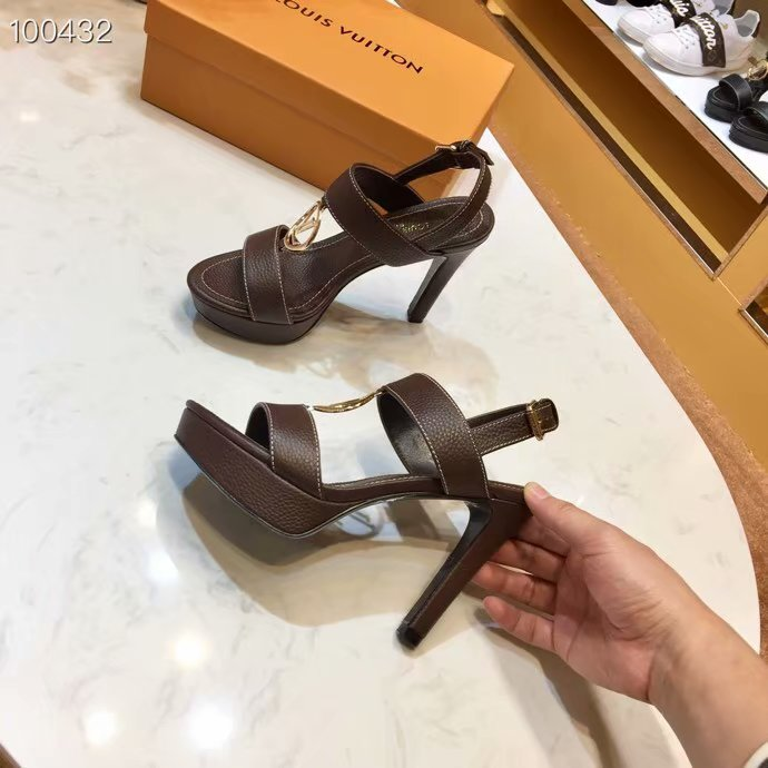 Louis Vuitton lady leather Sandals LV955SY-2 10CM height