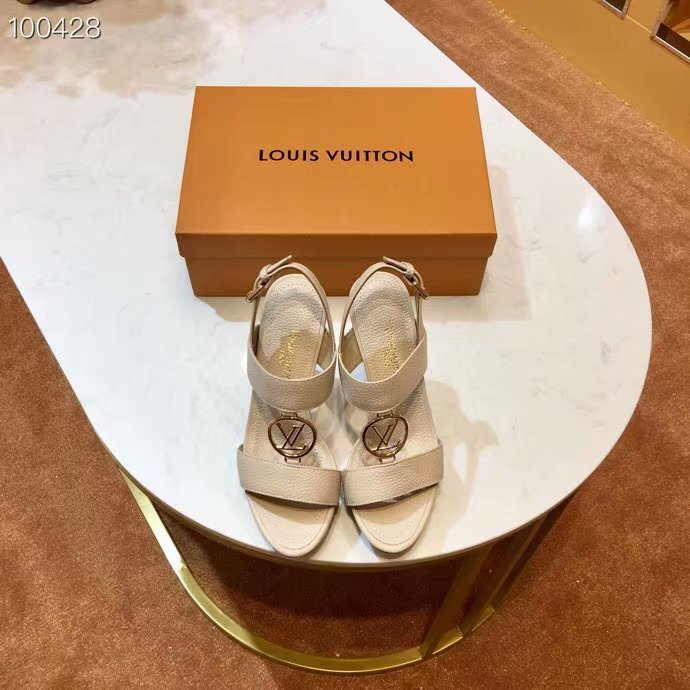 Louis Vuitton lady leather Sandals LV955SY-6 10CM height
