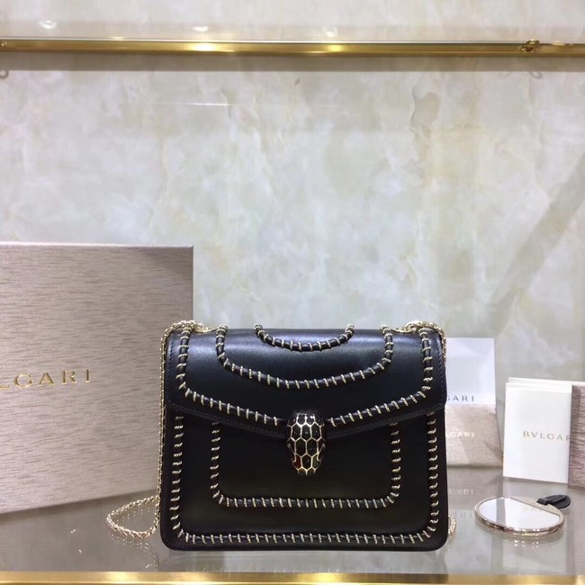 BVLGARI mini Shoulder Bag Calfskin Leather BG22889 black