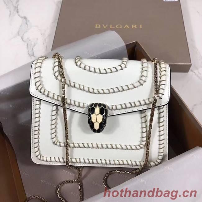 BVLGARI mini Shoulder Bag Calfskin Leather BG22889 white