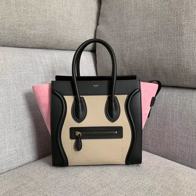 Celine Luggage Boston Tote Bags All Calfskin Leather 189793-2