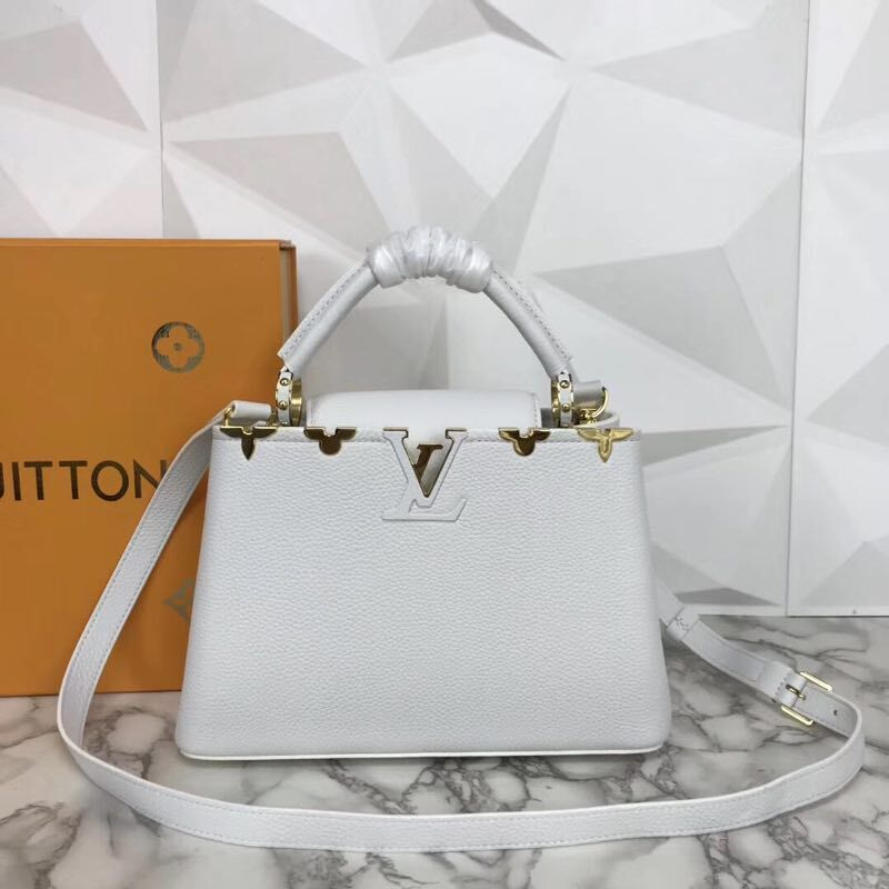 Louis Vuitton original Elegant Capucines BB Bags M94517 White