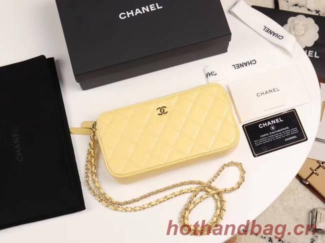 Chanel Calfskin & Gold-Tone Metal A82527 yellow