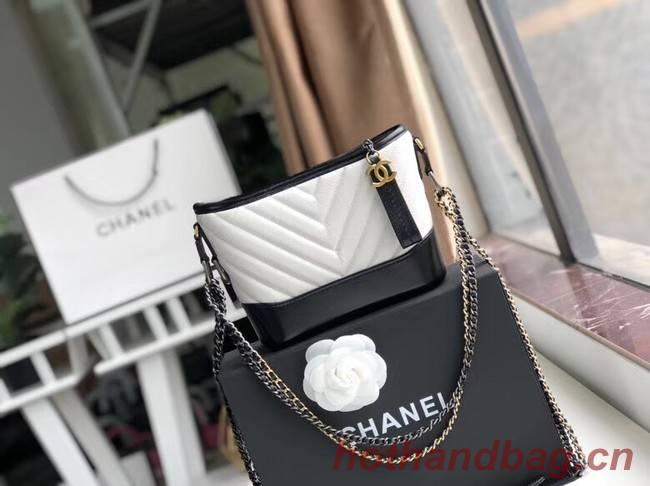 Chanel gabrielle small hobo bag A91810 black&white