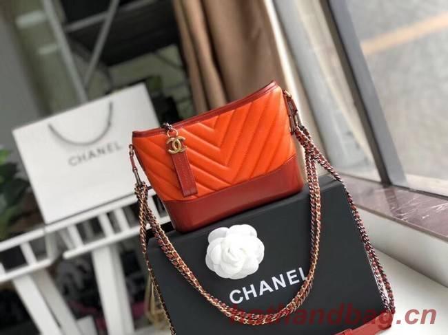 Chanel gabrielle small hobo bag A91810 orange