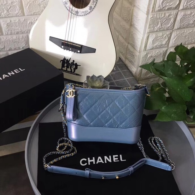 Chanel gabrielle small hobo bag B91810 blue