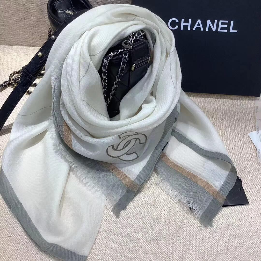 Chanel Scarf C1290 Gray