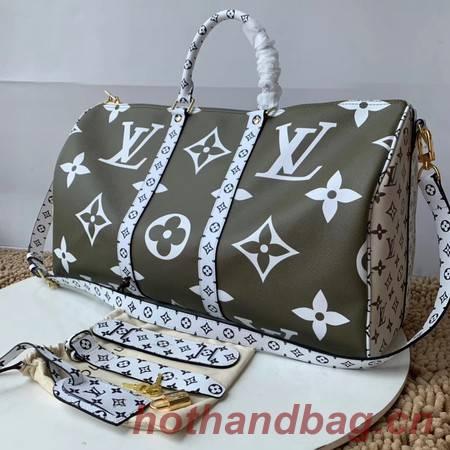 Louis Vuitton Original KEEPALL 50 M44590 Khaki