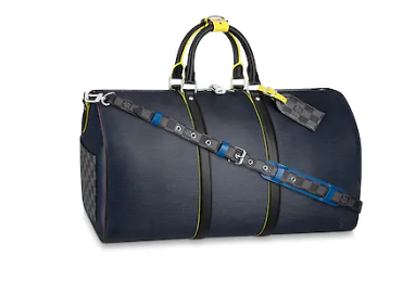 Louis vuitton original KEEPALL BANDOULIERE 50 M55149 blue