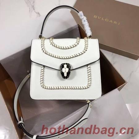 Bvlgari Serpenti Forever leather small crossbody bag B286999 white