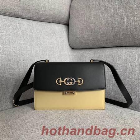 Gucci GG Leather Shoulder Bag A576388 Black&white