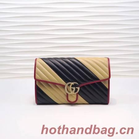 Gucci GG Marmont clutch 498079 black&apricot