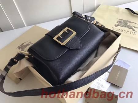 BURBERRY Hampshire vintage check leather cross-body bag 6101 black
