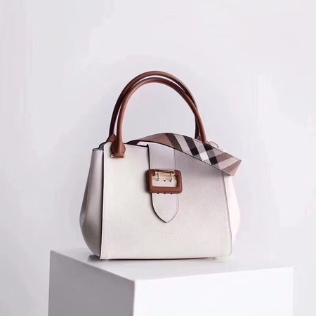 BURBERRY Medium Banner tote bag 0221 white
