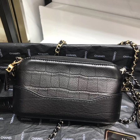 Chanel mini Shoulder Bag Leather B93825 black