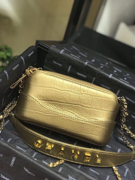 Chanel mini Shoulder Bag Leather B93825 gold