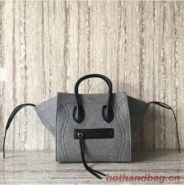 Celine Luggage Boston Tote Bags CL6589 Gray