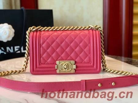 Boy Chanel Flap Shoulder Bag Leather A67085 rose