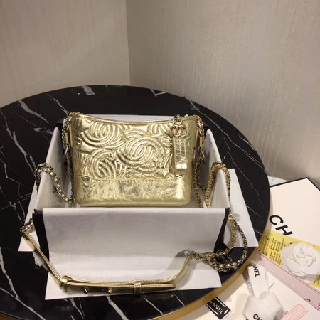 Chanel gabrielle small hobo bag A91810 gold