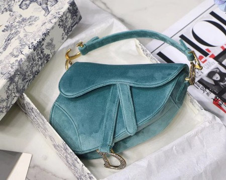 Dior MINI SADDLE BAG M447S Velvet green