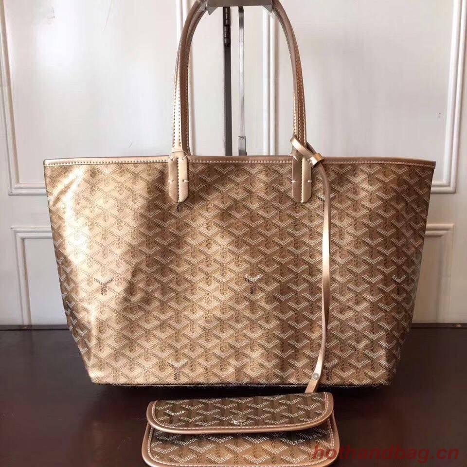 Goyard Y Doodling Calfskin Leather Tote Bag 7902 Gold