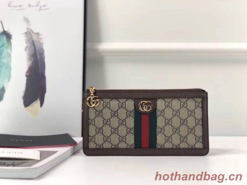 Gucci  print GG Supreme pouch 524291