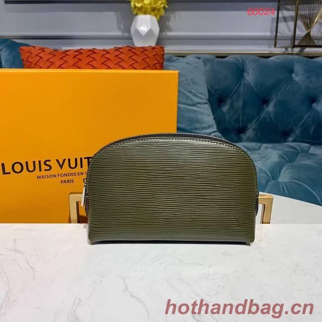 Louis vuitton original Epi Leather COSMETIC POUCH PM M52030 Khaki