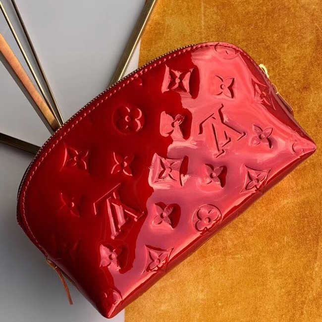 Louis vuitton Monogram Vernis Leather COSMETIC POUCH M90172 Burgundy
