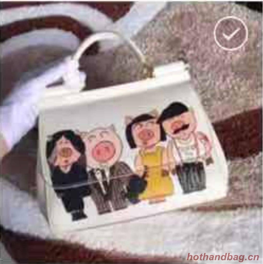 Dolce & Gabbana Origianl Bag DG8633 Pig White