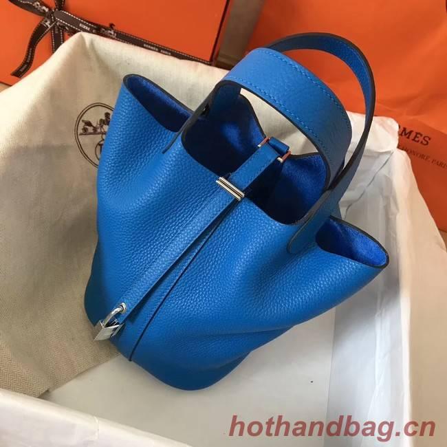 Hermes Picotin Lock PM Bags Original Leather H8688 blue