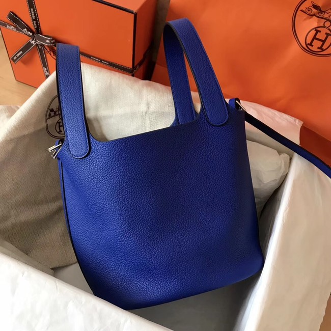 Hermes Picotin Lock PM Bags Original Leather H8688 electric blue